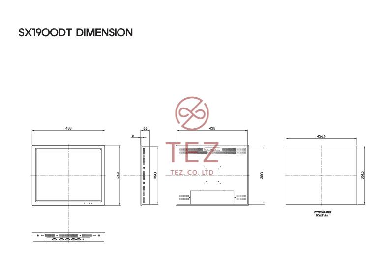 Màn Hình LCD Công Nghiệp SX1900D-T mo ta
