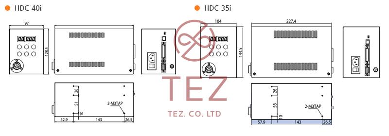 Bản vẽ kích thước bộ điều khiển tô vít điện SEHAN HDC Series