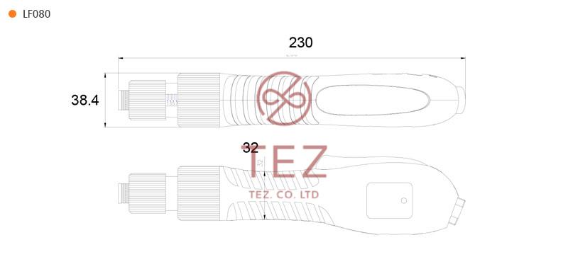 Bản vẽ kích thước tô vít điện LF Series