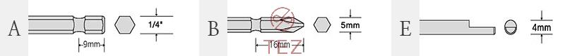 Kích thước mũi vặn vít SEHAN HDC Series (2)